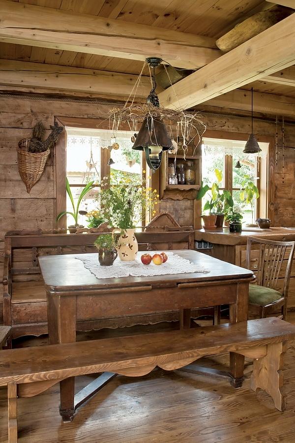 Estilo rustico interiores de cabana rustica - Estilo rustico ...