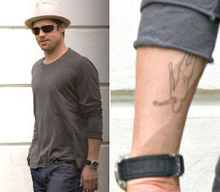 Brad Pitt Tattoo Designs