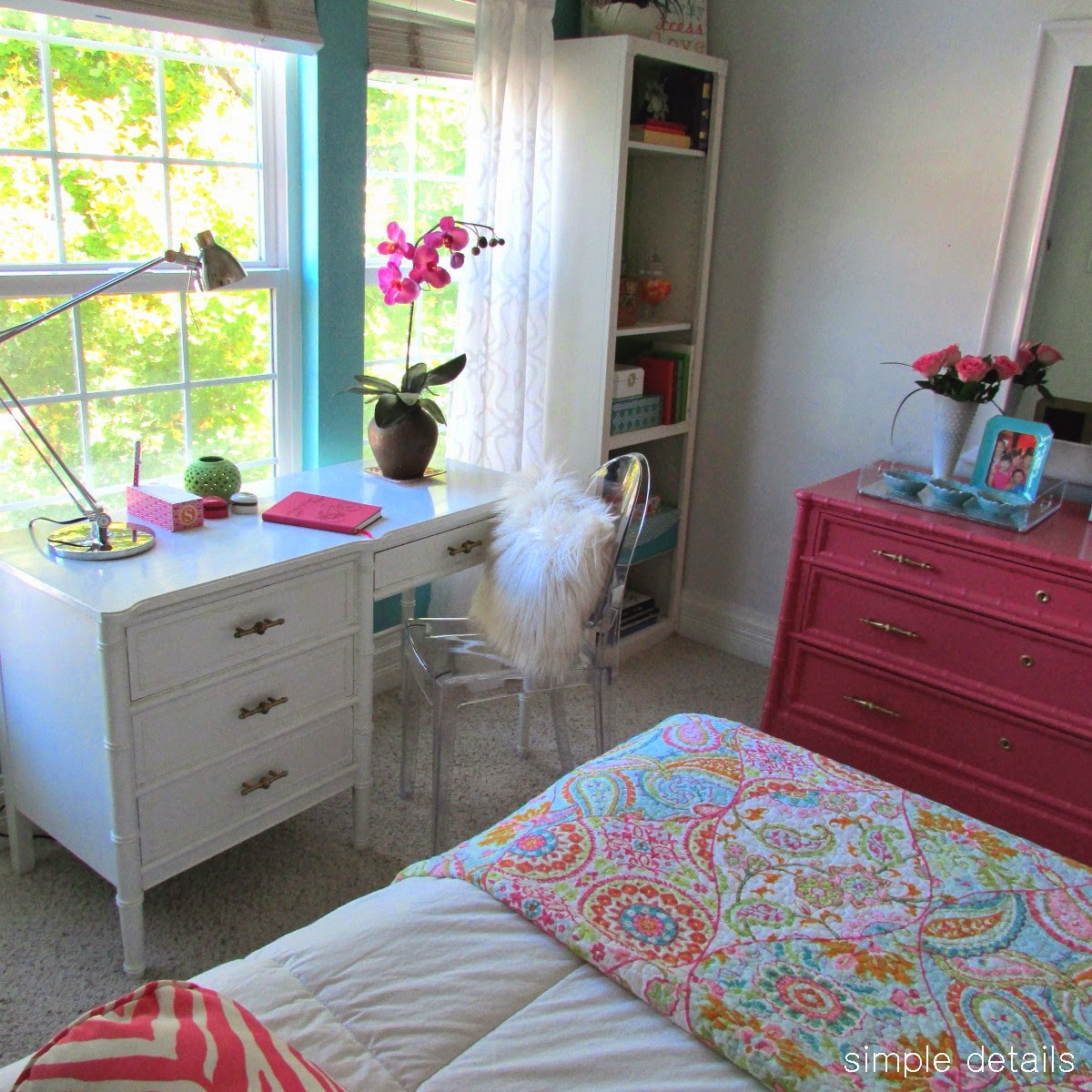 Simple Details: fresh modern teen girl's room