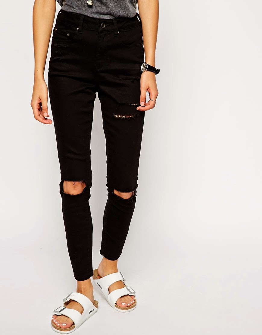 skinny ripped black jeans