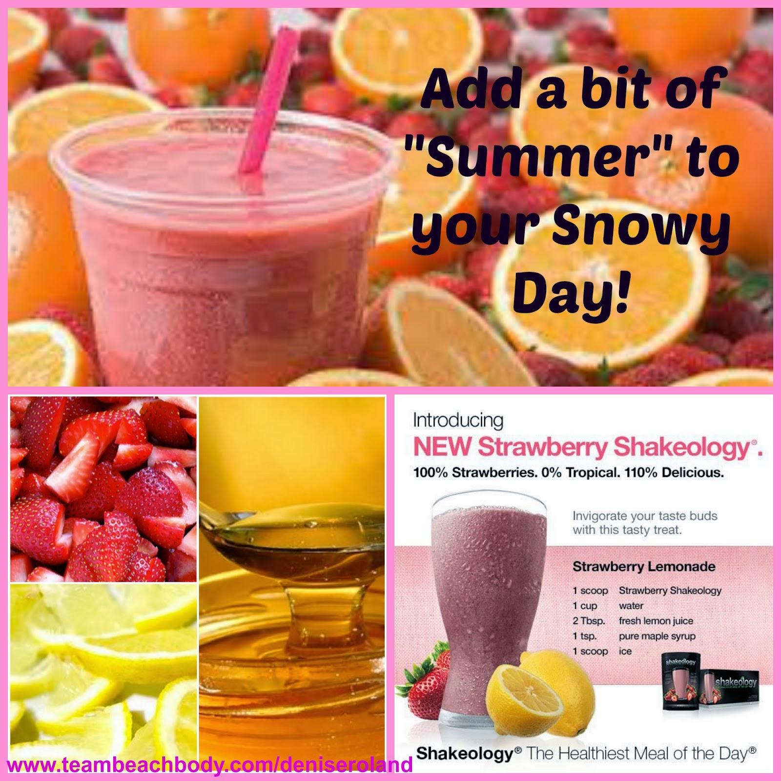 Strawberry Shakeology Recipes Strawberry lemonade shakeology