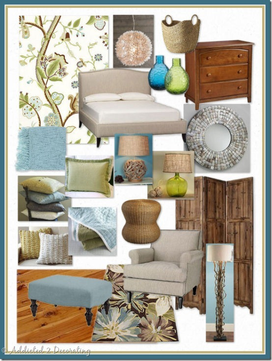 Focal point styling coastal cottage moodboard challenge for Addicted to decorating
