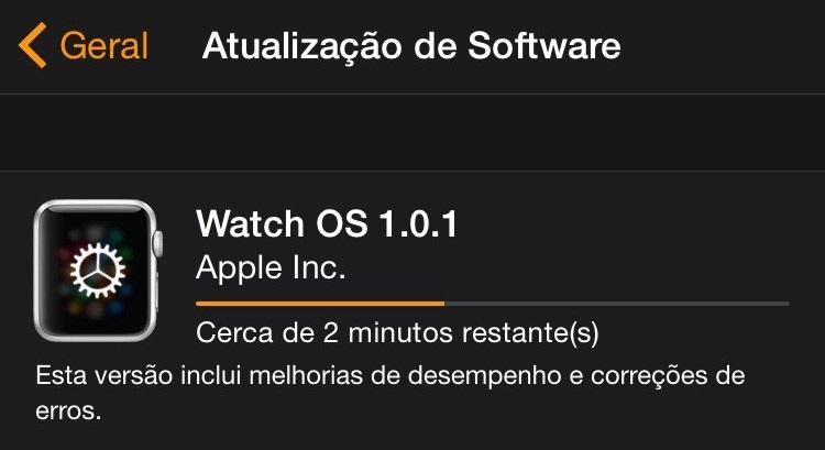 Atualização - Watch OS 1.0.1