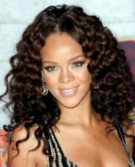 Rihanna Short Curly Hair