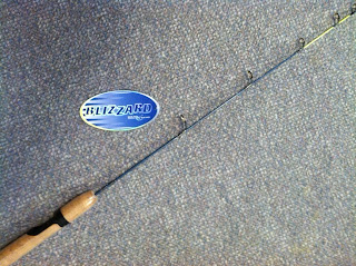 "South Bend ""Blizzard"" 30"" Medium Action Ice Fishing Pole"