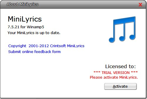 Minilyric software free download