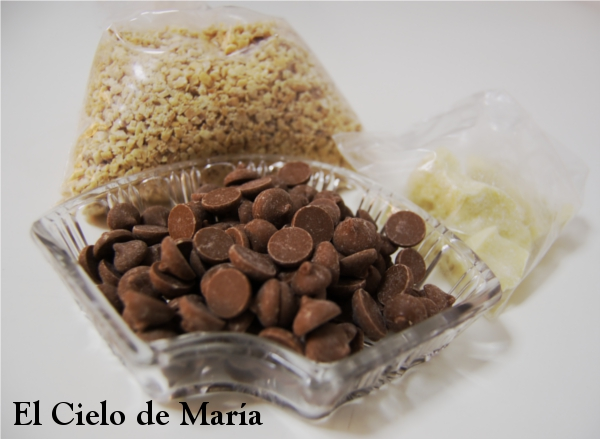 Ingredientes de bombones de chocolate
