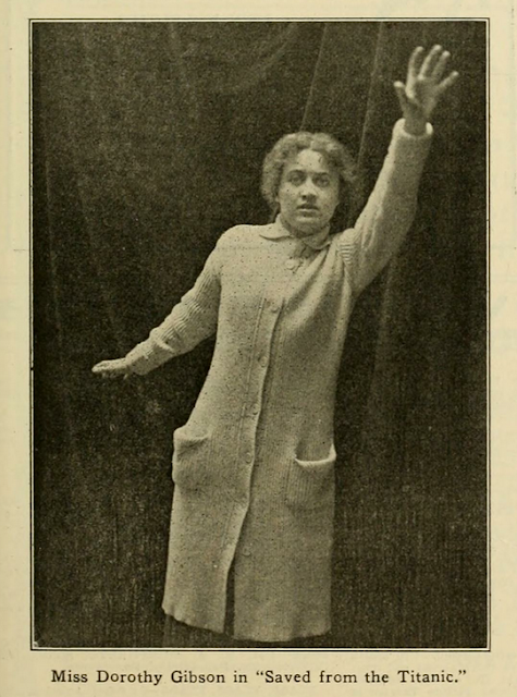 Dorothy Gibson in Saved from the Titanic