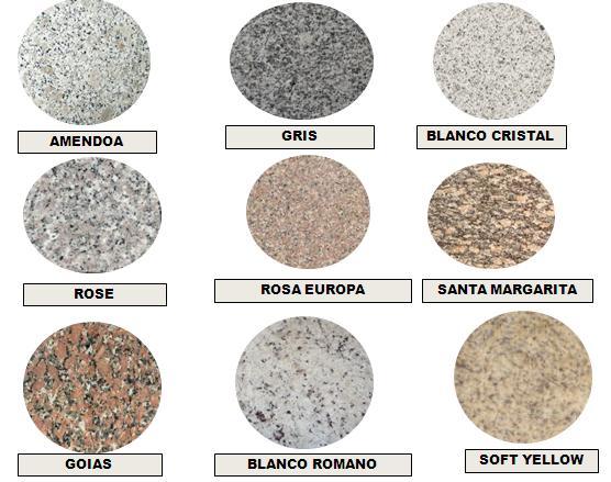 Venta de ceramica porcelanato instalacion de granito for Colores de granito para mesones de cocina