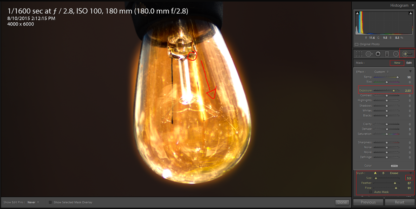 glowing light bulb png. the light bulb i chose a small brush for this one used filament as guide to make it glow note only exposure and temp adjustment glowing png e