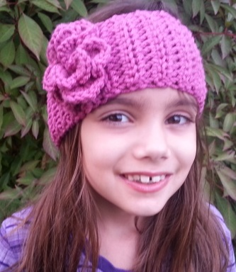 Raising Mimi @PoochieBaby: Ribbed Flower Headband/Ear Warmer
