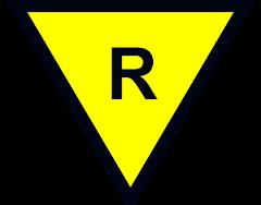 """Símbolo de REPARO em equipamentos """"Ex"""" em conformidade com as Normas, mas não com a certificação."""