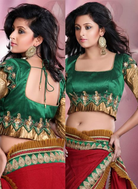 blouse neck designs for wedding saree