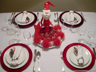 Decoracion de mesas mesa navidad de papa noel - Decoracion mesas para navidad ...