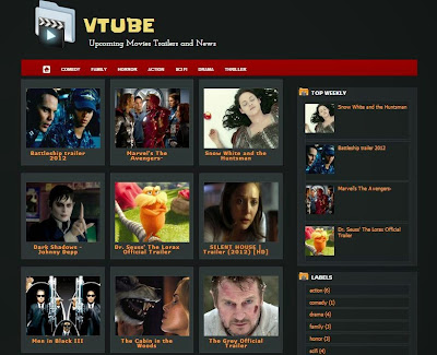 5 Blogger Template Untuk Streaming Video