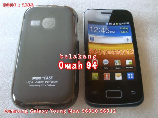 Jual Silikon Soft Case Galaxy Young New / 2 S6310 S6312 Hitam (Black)
