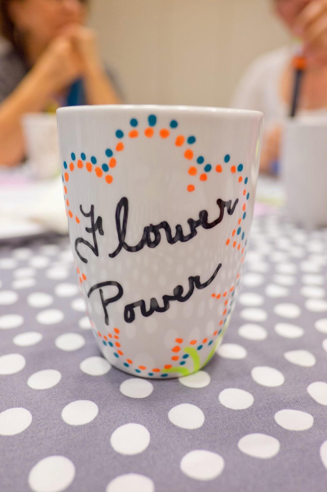 domestic fashionista diy paint pen coffee mugs