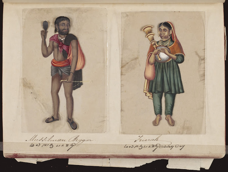 Mussilman beggar and Female