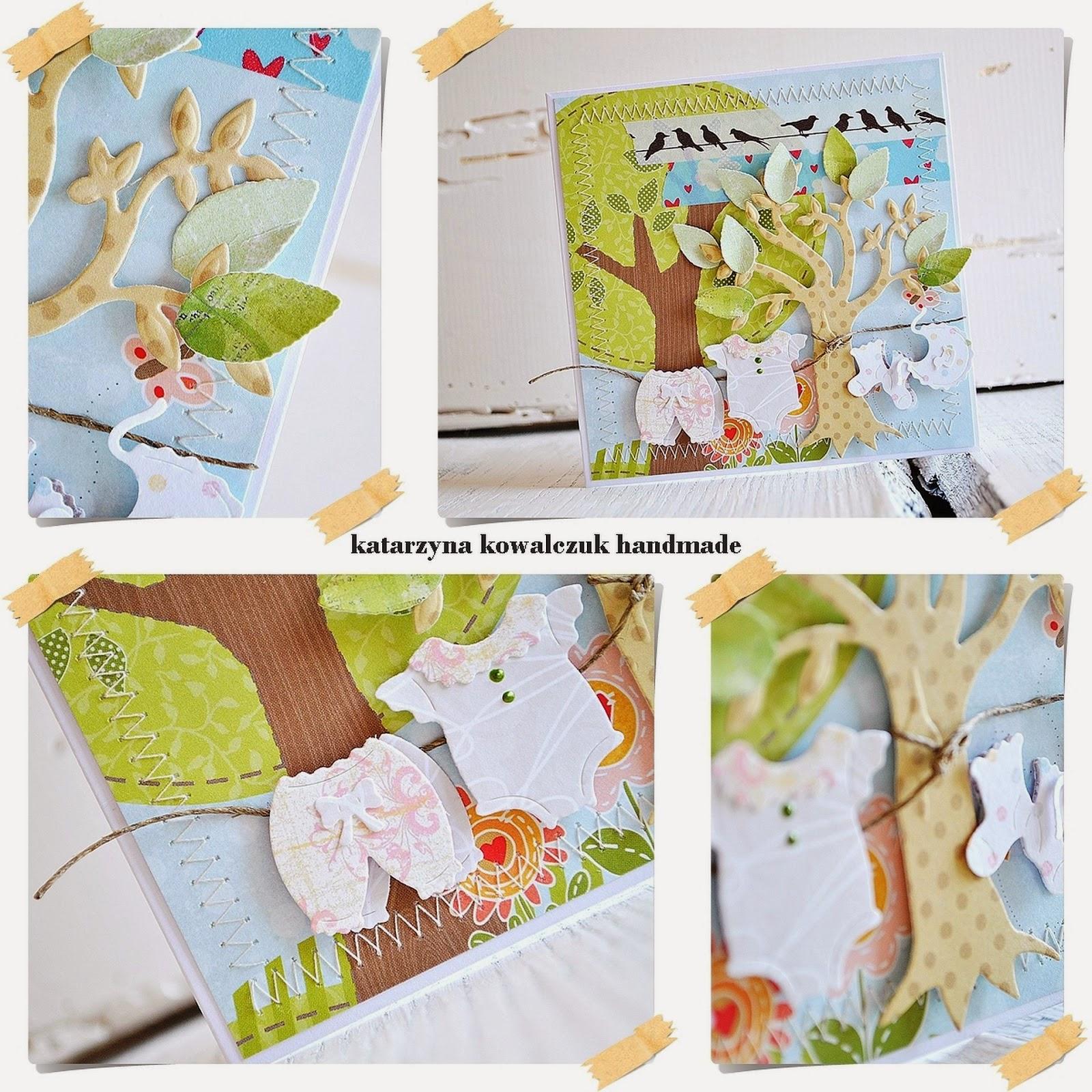 kartka narodziny dziecka scrapbooking