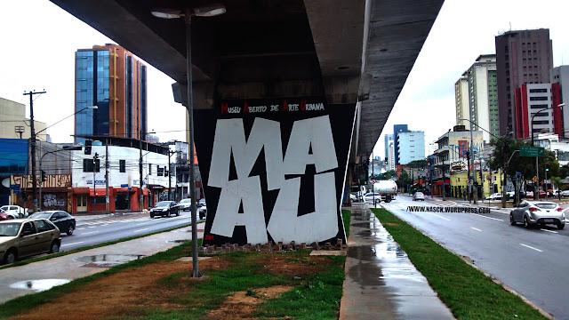 MAAU - Museu Aberto de Arte Urbana, na Av. Cruzeiro do Sul - São Paulo.