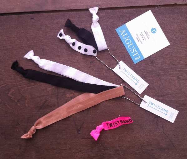 TwistBand Monthly Subscription Box Review - August 2012