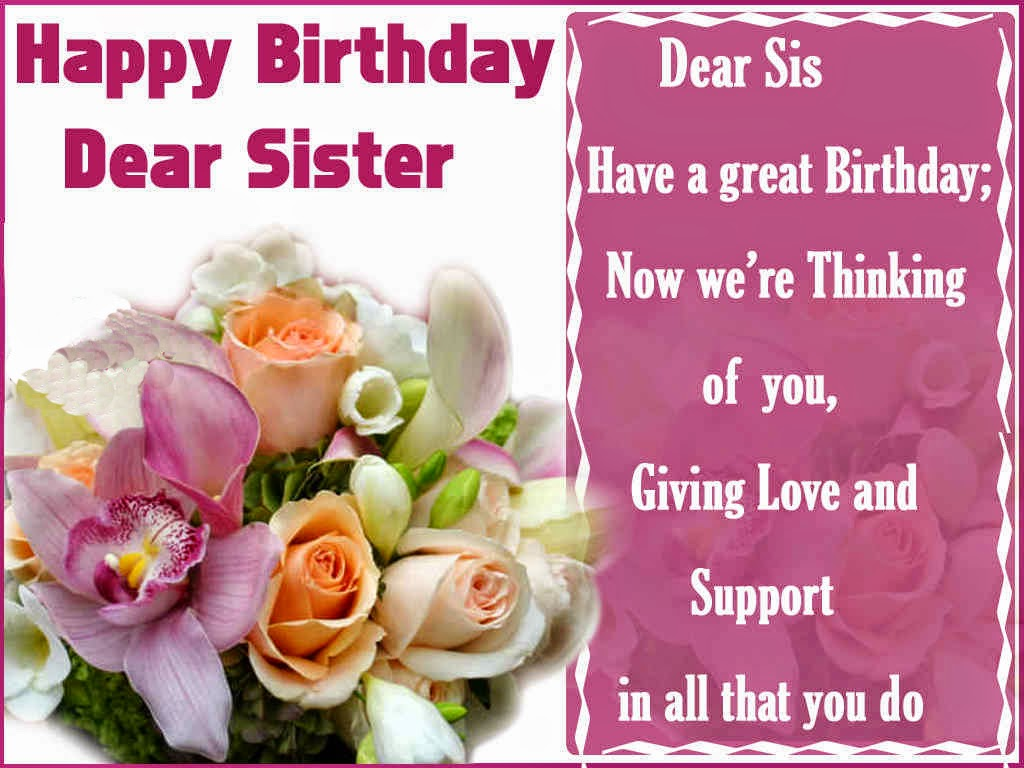 All wishes message greeting card and tex message birthday birthday greetings card for sister birthday wishes card for your sister kristyandbryce Image collections