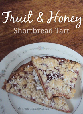 Fruit & Honey Shortbread Tart; flourmewithlove.com