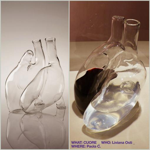 (heart bottle - bottiglia a forma di cuore) CUORE / LIVIANA OSTI / PAOLA C.
