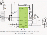 Synchronous Switch-Mode MPPT Battery Charge Controller Circuit