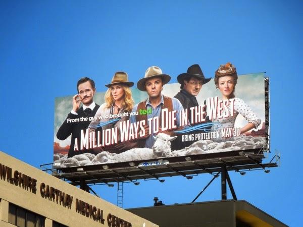 A Million Ways to Die in the West movie billboard