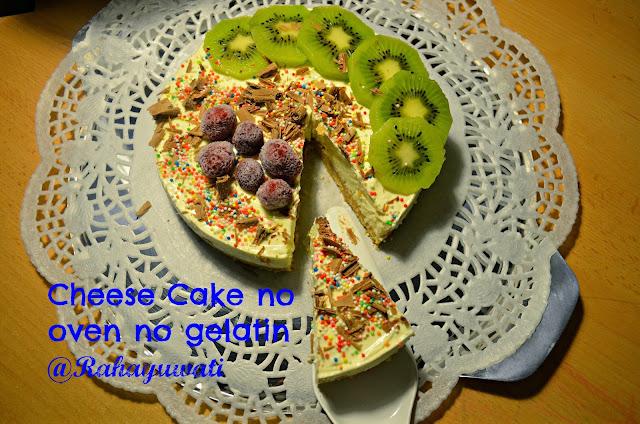 Cheese Cake Tanpa Oven dan Gelatine