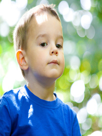 Bokeh effect in child Portraits