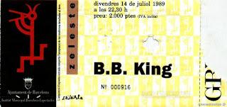 entrada de concierto de b.b king