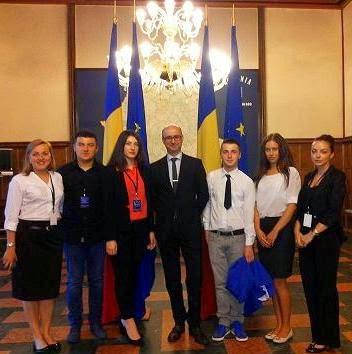 Leon Bordea, alături de Secretarul de Stat, Dl. Radu Puchiu...