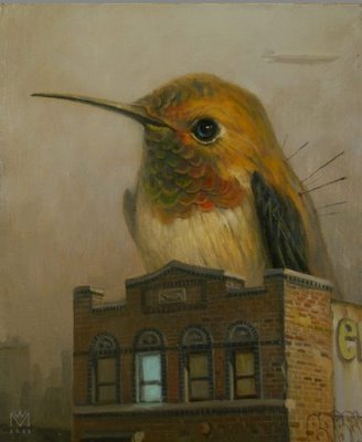 martin wittfooth illustration bird
