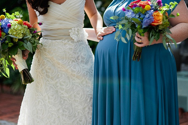 maternity bridesmaid dress