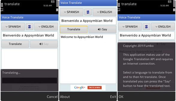 Aplicación Voice Translate Pro