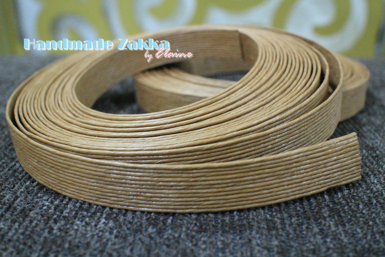 How To Weave A String Basket : Handmade zakka by elaine paper string basket with lining