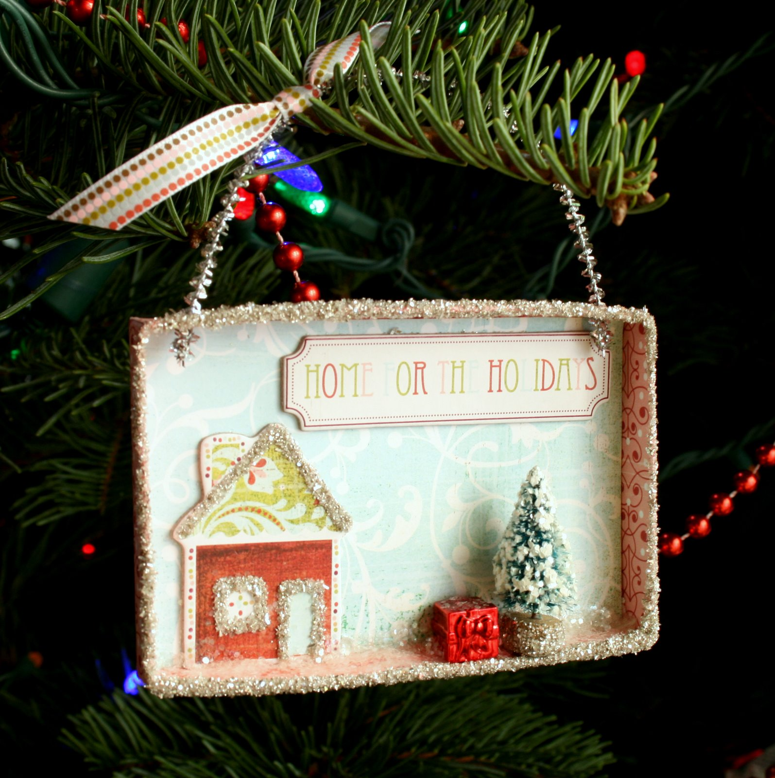 Always a crafty girl mini christmas shadow boxes