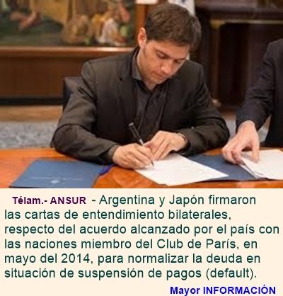 MUNDO: Buenos Aires y Tokio firman carta de entendimiento del acuerdo por la deuda con el Club de P