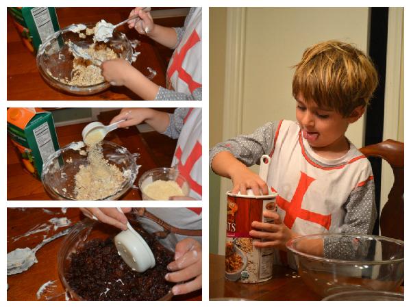 making muesli with kids
