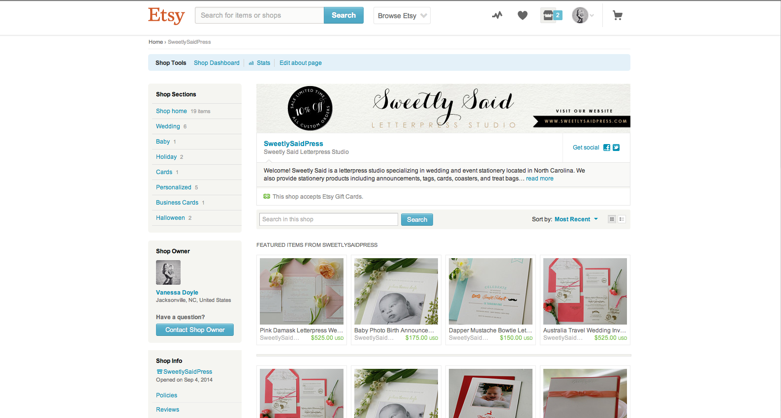 Wedding and Event Invitations Etsy Shop Sweetly Said Press