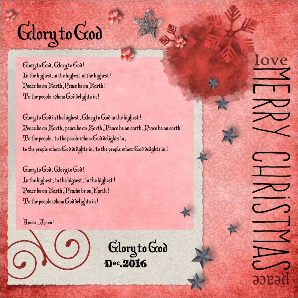Dec.2016- Glory to God
