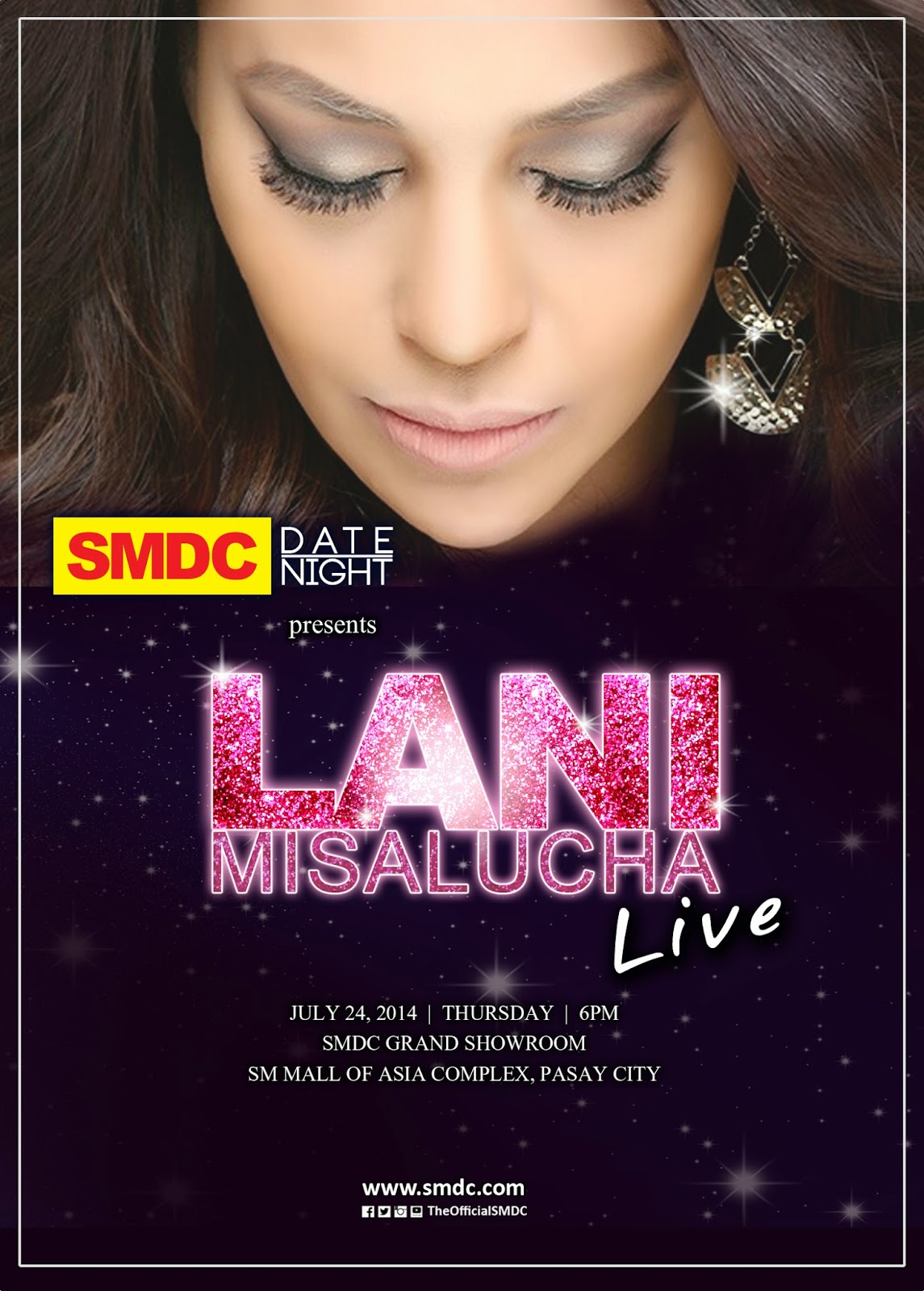 Join us and experience the soulful voice of Ms. Lani Misalucha live at the SMDC Grand Showroom this July 24, 2014, 6PM