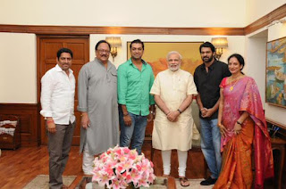 Prabhas with Pm