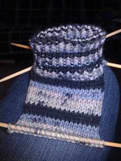 Day 1 Progress of the Easy Peasy Sock for First Timers