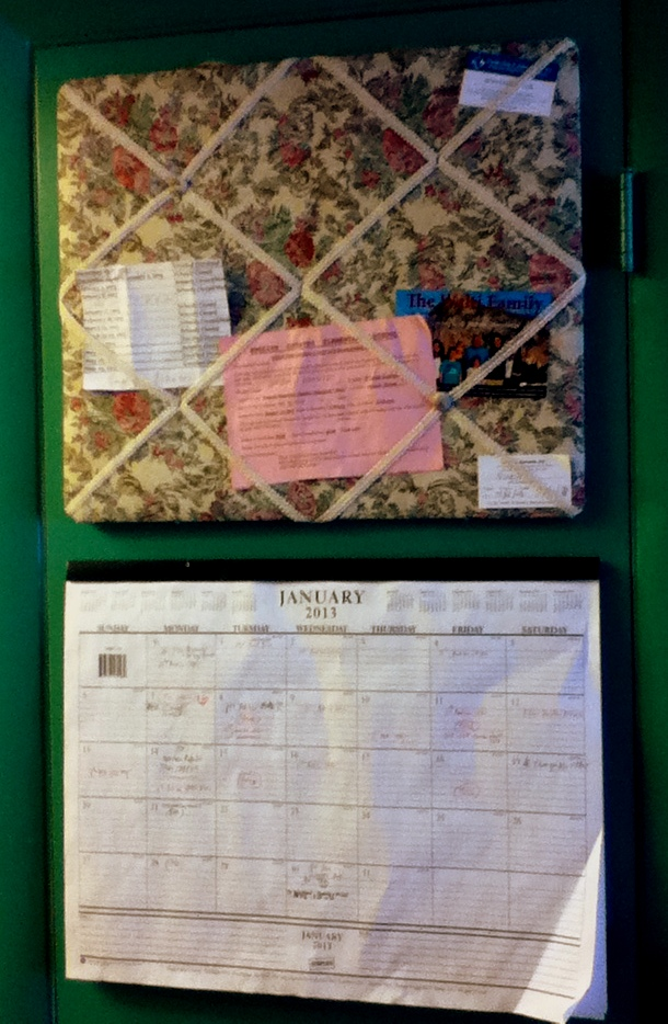 Come weary moms kitchen organization ideas from a mom of 10 for Bulletin board ideas for kitchen
