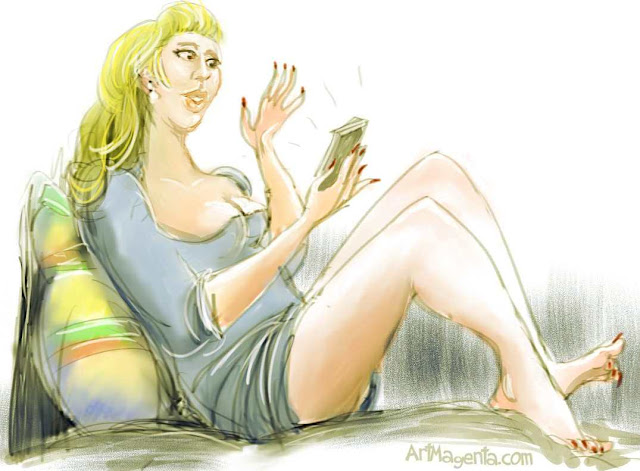 Lazy Lizy, caricature by ArtMagenta