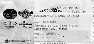 entrada de concierto radiobenba sound system