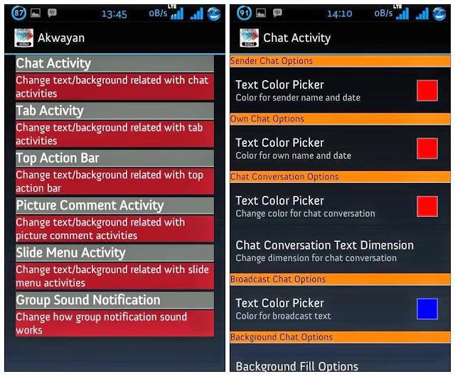 Edit Tampilan BBM Di Akwayan Sesuai Selera  - Drio AC, Dokter Android